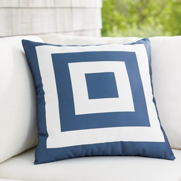 Hampton Nautical Square Outdoor Pillow Reever 6 Double Eagle