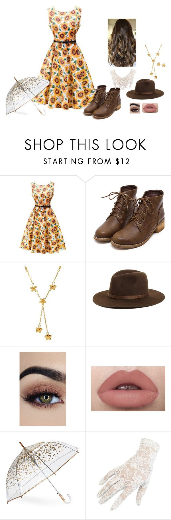 """""""N/A # 858"""" by terra-wendy ❤ liked on Polyvore featuring Lord & Taylor, Brixton, ShedRain and Black"""