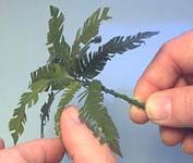 Palm Tree Tutorial - use technique to make Barbie plants.