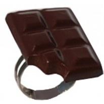Bague fimo Chocolat croqué