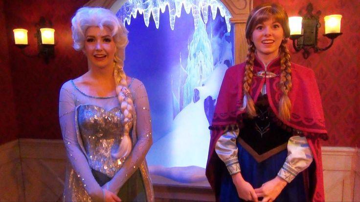 Anna and Elsa Meet & Greet w/ Talking Olaf at Fantasyland Frozen Royal R...