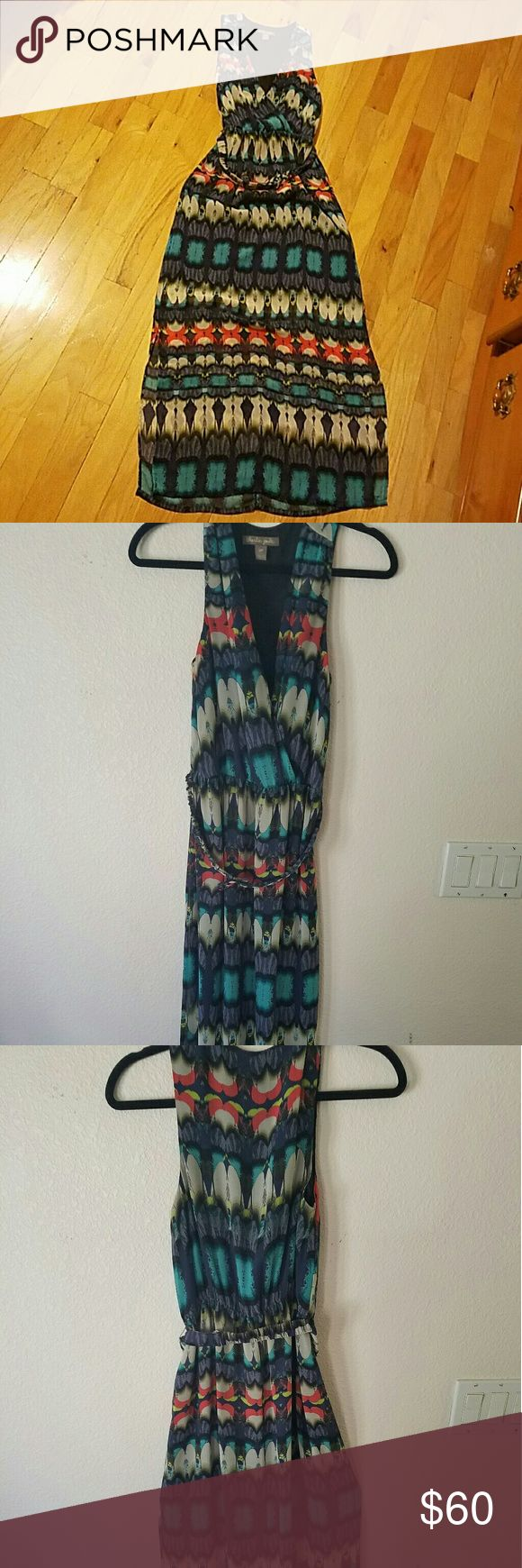 Charlie Jade maxi dress Gorgeous dress perfext for spring/summer.. It is in good condition, just missing the button from the chest as shown on pic #4..  Has a belt and it is open from the bottom sides. charlie jade Dresses