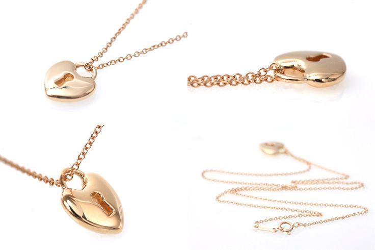 ■ティファニー(Tiffany&Co.) ハートロック ネックレス K18YG■¥34,800