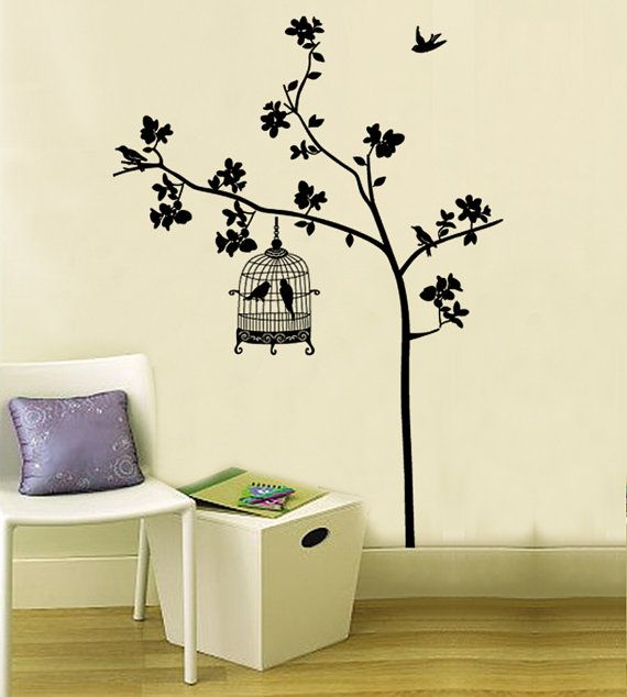 Vinyl Art Wall Sticker DecalTree wall decals by Walldecorative, $0.20