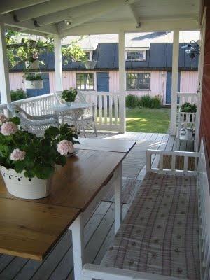 Maria renoverar: Staket på verandan   Veranda   Pinterest   Html