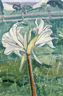 Lily growing in a field by the sea - Grace Cossington Smith