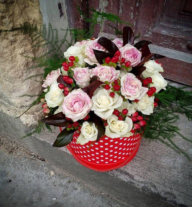 "6 aprecieri, 1 comentarii - Floraria Dorothy's (@florariadorothys) pe Instagram: ""Polka dots.. #flowerbox #polkadots #flowergift #cluj #clujlife #clujnapoca #clujcenter #floricluj…"""