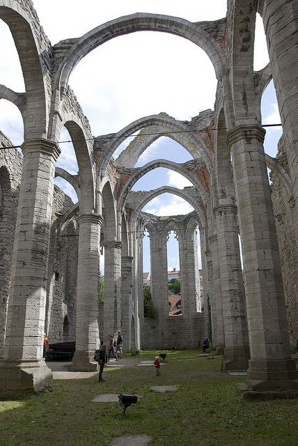 Ruins of St Catherine Cathedral in Visby, Sweden (by sgplewka).
