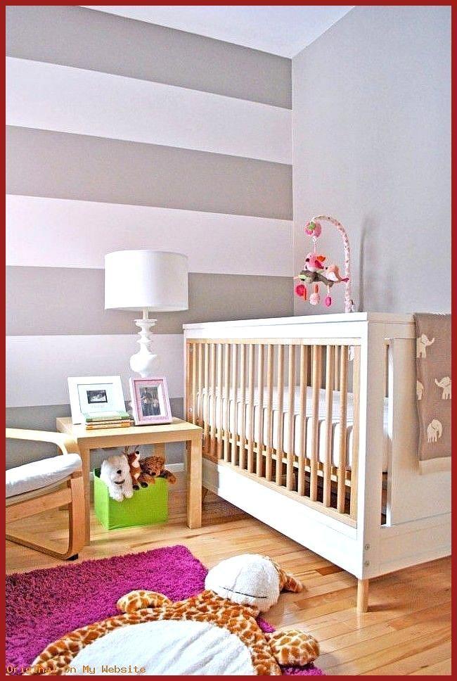 Schlafzimmer Ideen Wandgestaltung Streifen Wandfarbe Babyzimmer