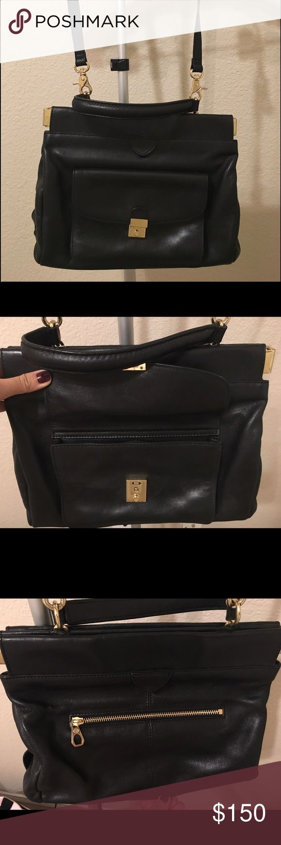 Tory Burch Priscilla Small Frame Satchel - BLACK; Size: OS  Original Price: $416.5                                                        Bought it in 2012. It was in bag for 3 years. Used. I will clean this bag before I delivery it to the customer. There is a little bit dust on the surface of the leather. Tory Burch Bags Satchels