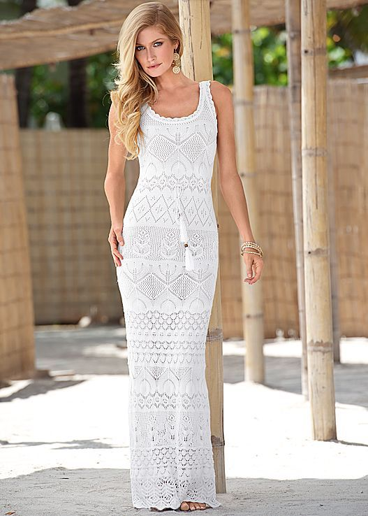Classic crochet is a piece you have to have for the season! Venus crochet maxi dress.