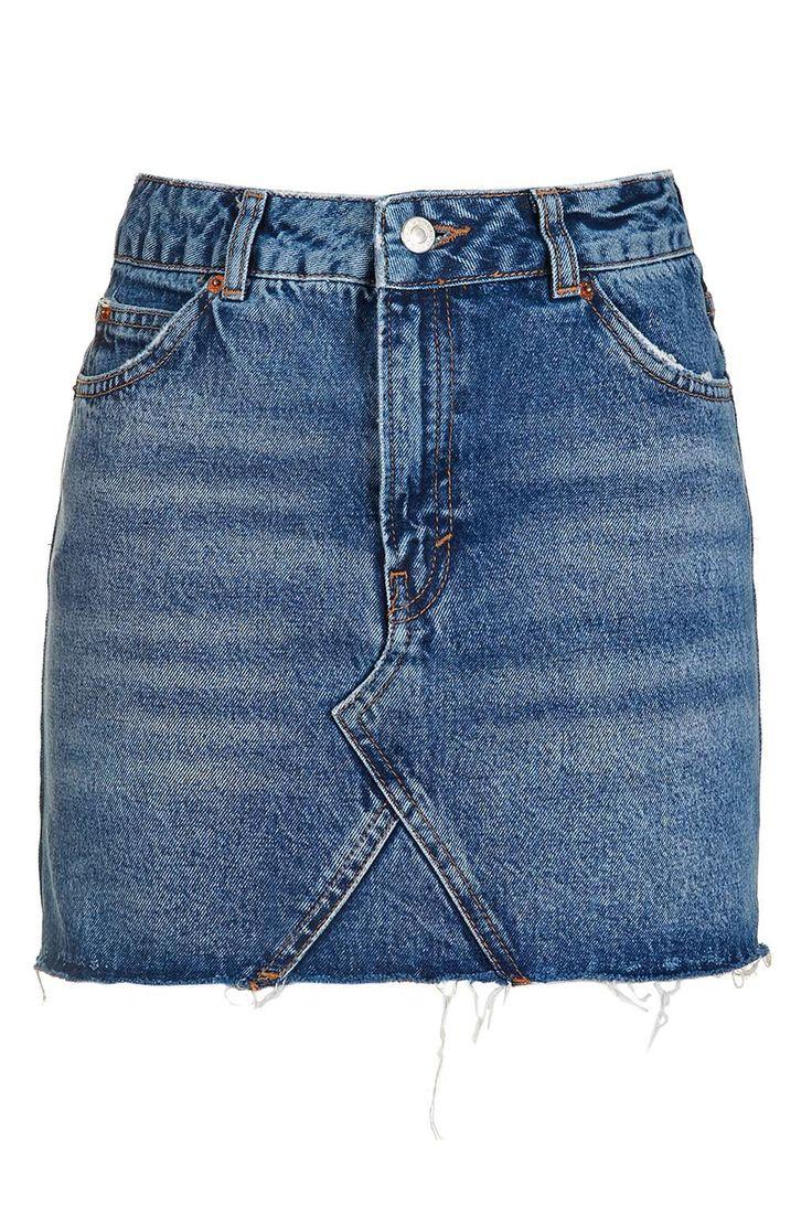 PETITE MOTO Denim Pelmet Skirt