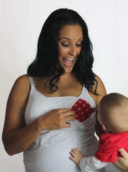 My Missy Moo White Breastfeeding Singlet - $39.95