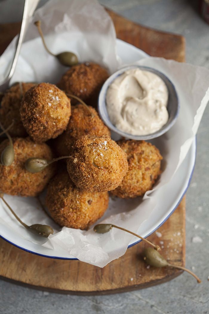 Cauliflower and cheese croquettes on DrizzleandDip.com Photography - Samantha Linsell