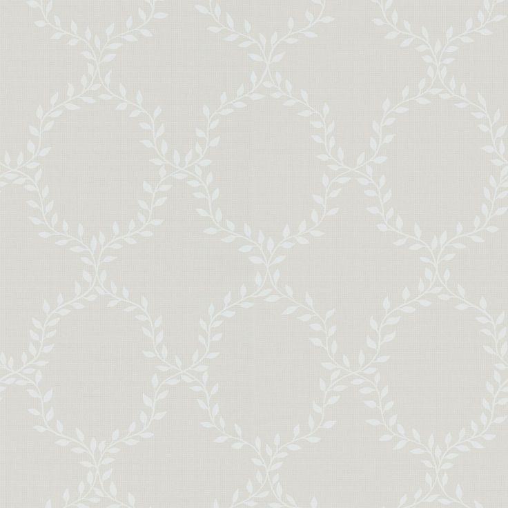 Tredje stora bilden av tapetern Wilma Ljusgrå