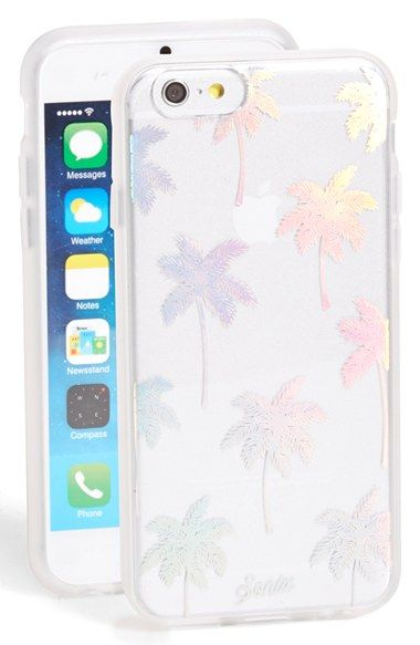 Free shipping and returns on Sonix 'Palm Beach' iPhone 6 & 6s Case at Nordstrom.com. Iridescent palm trees add eye-catching tropical flair to this transparent hard-shell case featuring a protective coating and an impact-resistant bumper—everything you need to guard your iPhone 6 Plus against scuffs and scratches.