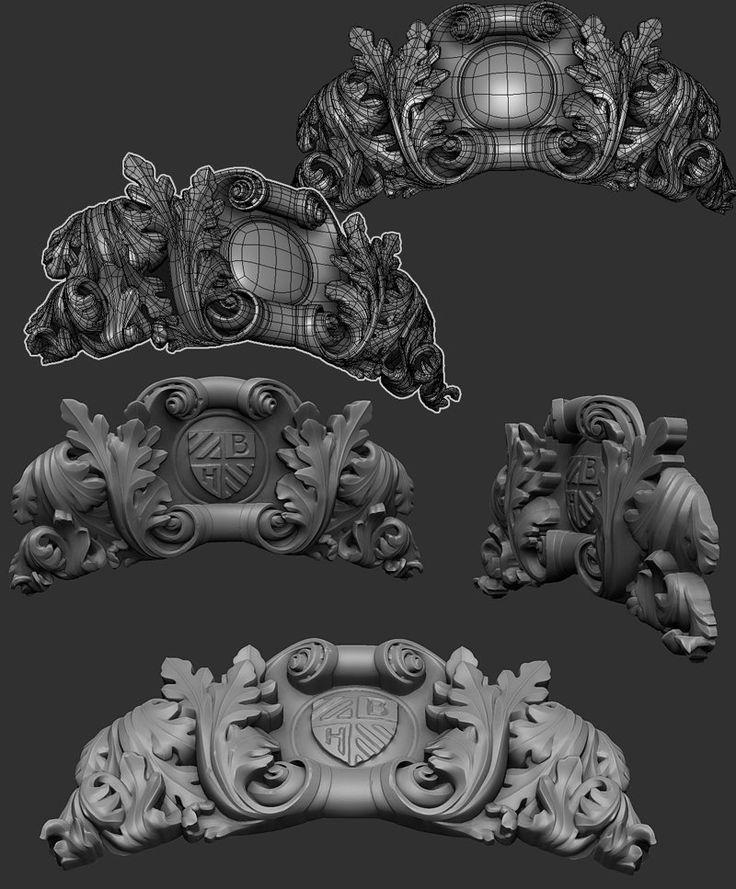 The Order - Ornamental sculpt, Hugo Beyer on ArtStation at https://www.artstation.com/artwork/the-order-ornamental-sculpt