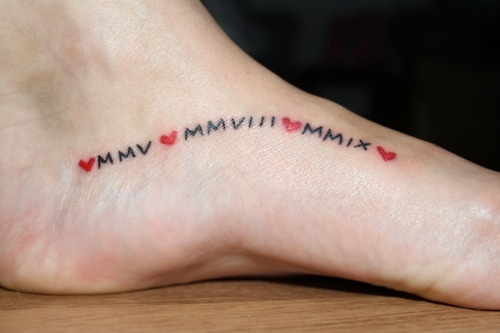 roman numeral tattoo on foot google searchbut with