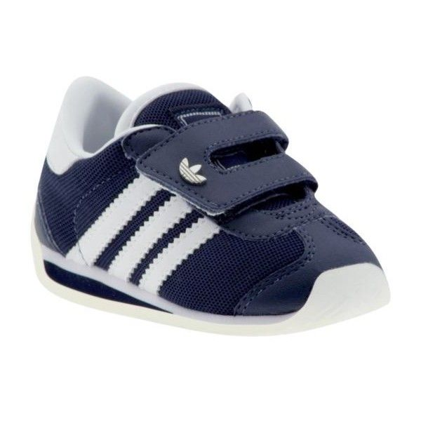 adidas Country II K Slip Ons ❤ liked on Polyvore featuring baby, baby shoes, shoes, baby boy, baby stuff and kids unisex infant/toddler sneakers slip-on