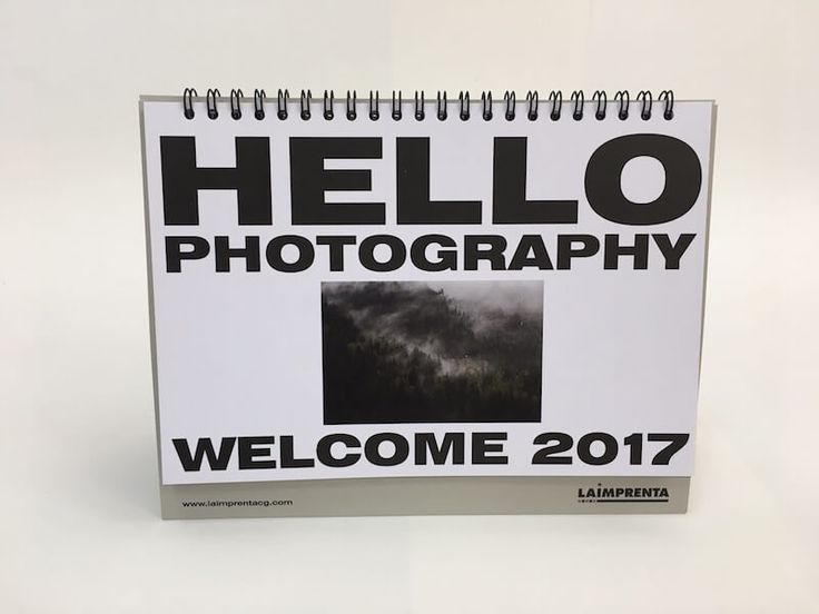 Un calendario dedicado a la fotografía contemporánea.