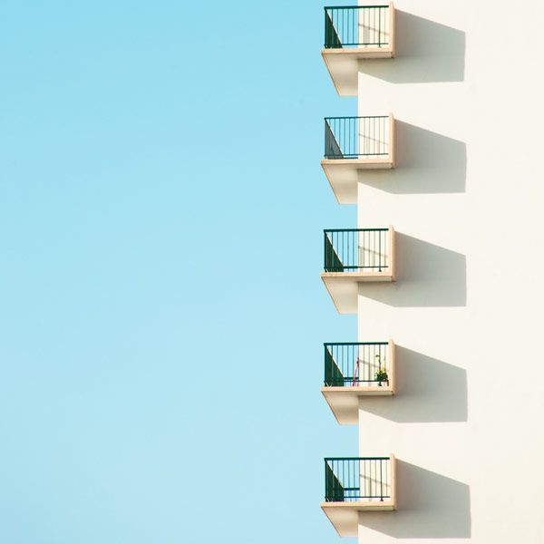 "Take a peek - Minimalist urban photography from the series ""Who want sky"". The image shows a detail shot of architecture in front of a blue sky. Use PIN10 for 10% off !:)"