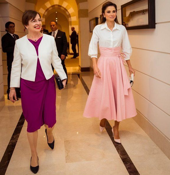 King Abdullah And Queen Rania Are Hosting President Of Austria And