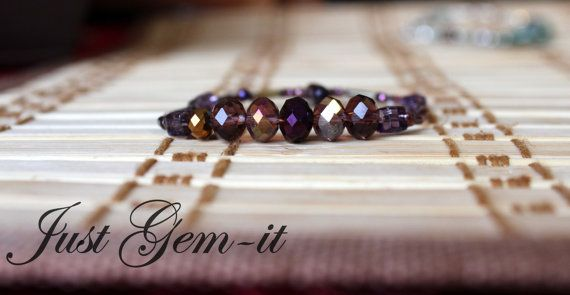 Women's smokey bead classic bracelet by Justgemit on Etsy, $10.00