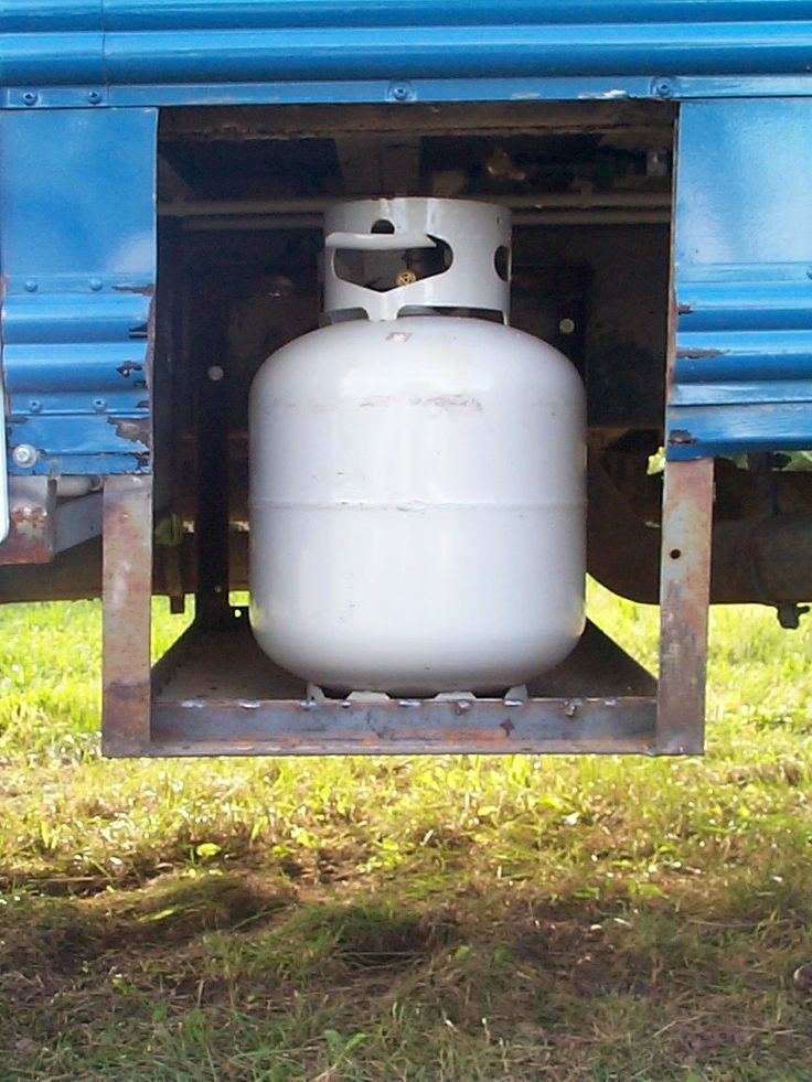 Rv dubbla propan tank anslutning