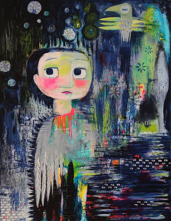 """Art print: """"Badly bruised but not broken"""", Charlotte Engel Studio"""