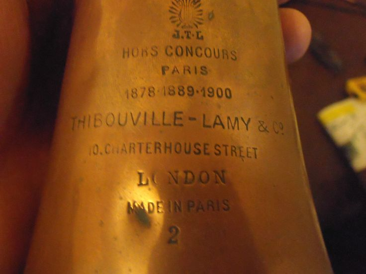 WW1 Thibouville-Lamy army bugle,engraved 2nd London Welsh,Royal Welsh Fusileers.