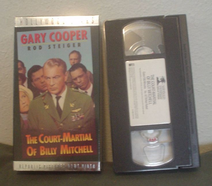 VTG Hollywood Stars The Court-Martial of Billy Mitchell VHS Tape Gary Cooper Ralph Bellamy True Story Military Trial Color 100 Minutes EC by HerOptionsforYou on Etsy