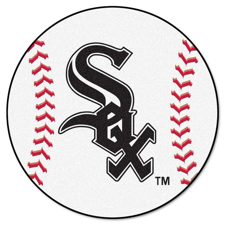 MLB Chicago White Sox Baseball Mat 27 Diameter