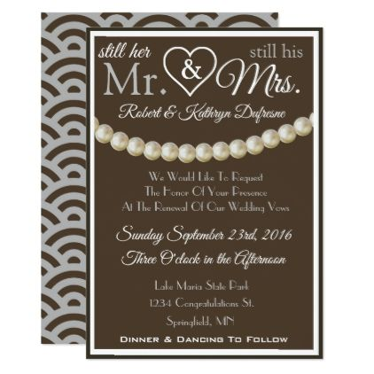 Still Her Mr His Mrs Vow Renewal Invitation Zazzle Gifts