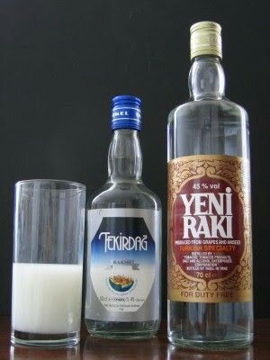 Turkish drink raki