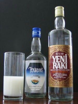 Turkish drink raki
