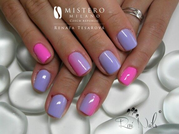 #nails #ombre #fullcovernails #nailart #gelpolish #nehty