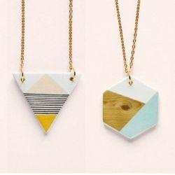 Geometry is fun! Handmade geometric necklaces. #craftgawker