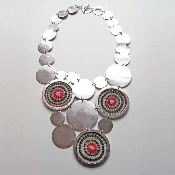 Mapuche discs necklace -- Horsehair and silver -- Designed by Damajuana (Trinidad Lira & Juan Pablo Nazar)