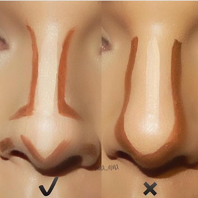 Repost! Tag your favorite companies/pages down below how I contour my nose. Now everyone's nose is different so yes there are many different ways to do it! #mua_nina