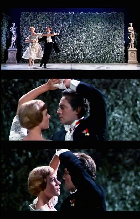"Touching love story...Christopher Plummer & Julie Andrews in the ""Sound of Music"" Don't need nudity and vulgarity to convey love and passion.  Will never forget the moment in the movie when they were dancing and realized they had fallen in love  (slj)"