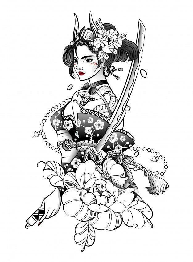 Graphic Resources For Everyone Geisha Tattoo Design Samurai Tattoo Design Japanese Tattoo Designs