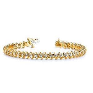 Ein Diamantarmband mit 2.00 Karat Diamanten aus 585er Gelbgold gefertigt. Dieses Diamantarmband ist erhältlich bei www.juwelierhausabt.de in Dortmund.