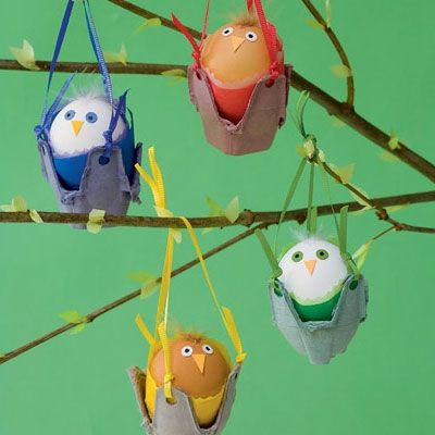 Click Pic for 50 Easter Crafts for Kids - Rock A Bye Birdies - Easter Craft Ideas for Preschoolers