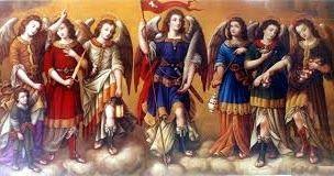 Santos Arcángeles   Ministros de la luz del Señor,   desde siempre se ha invocado vuestro nombre   para recibir la poderosa intercesión...