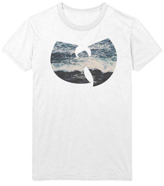 Wu Tang Clan Logo T-Shirt - T-Shirt Rap - océan mer vagues Hip Hop musique Sweatshirt - Mens / Womens