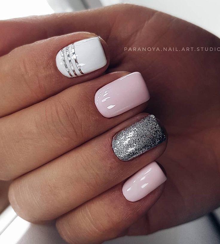 36 Sparkle Glitter Acryl Nail Designs Ideen für Short Square & Mandelnägel – Nails
