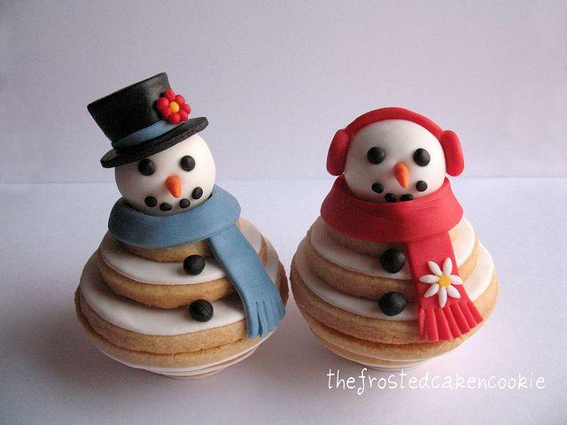 ... Cookie Snow, 3D Cookies Christmas, 3 D Cookie, Stacked Snowman Cookies