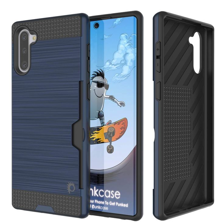 GALAXY NOTE 10+ PLUS CASE, PUNKCASE [SLOT SERIES] SLIM FIT SAMSUNG NOTE 10+ PLUS [NAVY]