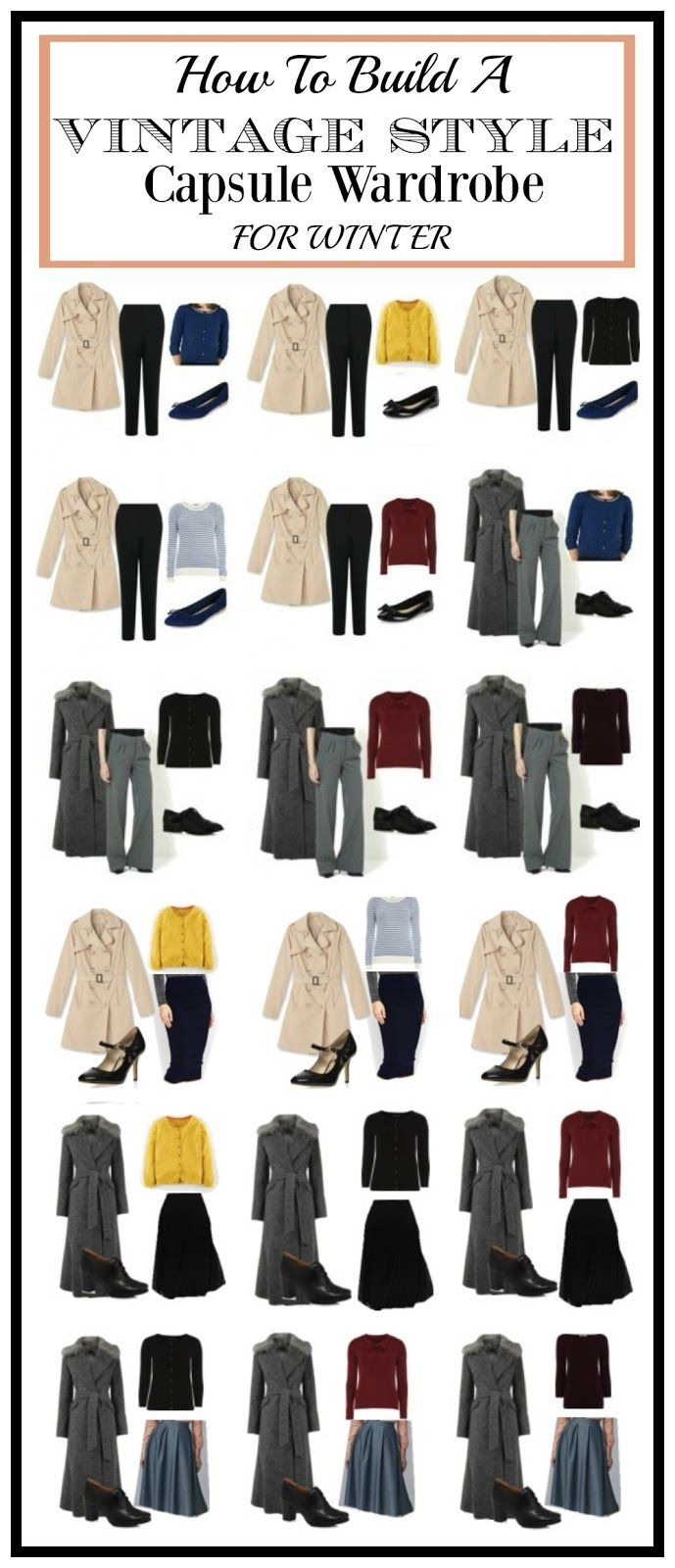 How to build a vintage style capsule wardrobe for winter - Vintagen Blog