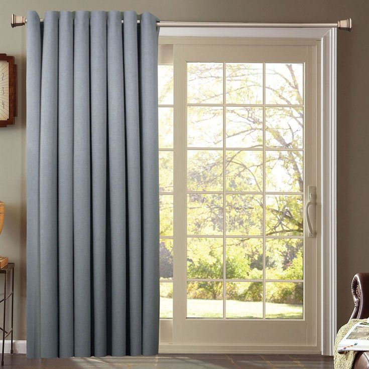 Beautiful Front Door Side Window Curtains : Blue Patio Front Door Side  Window Curtain